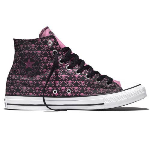 Converse Chucks Allstar Hi Sneaker CLASH PINK SKULL
