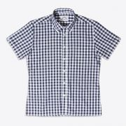 Brutus - navy large gingham trimfit