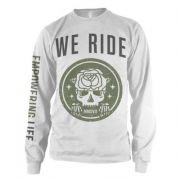 We Ride - rose skull