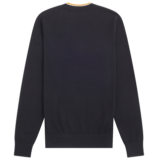 Fred Perry - Striped Roll Neck Jumper K9563 black 102