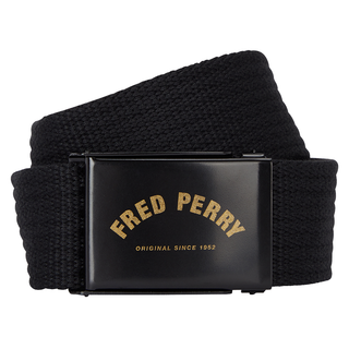 Fred Perry - Arch Branded Webbing Belt BT1421 black 102
