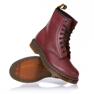 Dr. Martens - 1460Z cherry red DMC SM-CR 8-eye boot smooth (gelbe Naht)