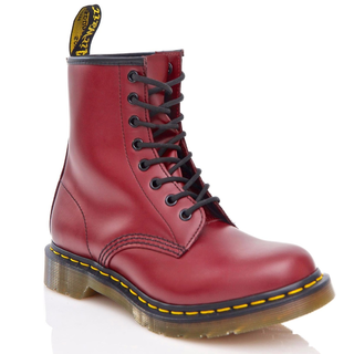 Dr. Martens - 1460 cherry red smooth DMC SM-CR 8-eye boot (yellow stitches)