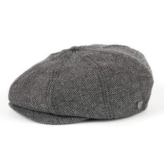 Brixton - brood grey/black herringbone