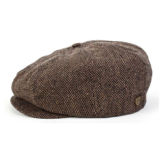 Brixton - brood brown/khaki herringbone