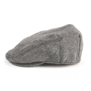 Brixton - hooligan grey/black herringbone