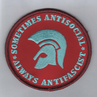 Sometimes Antisocial,Always Antifascist - red