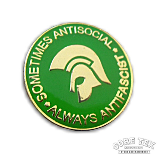 Sometimes Antisocial,Always Antifascist - green