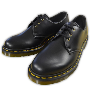 Dr. Martens - VEGAN 1461 black 3-eye shoe (gelbe Naht)