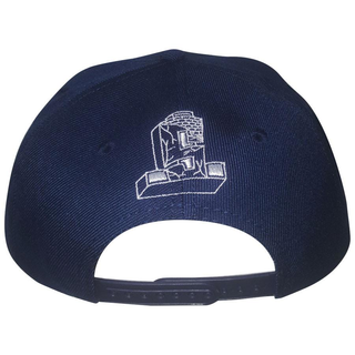 Suicidal Tendencies - logo snap back white on navy