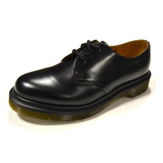 Dr. Martens - 1461PW narrow fit black smooth 59 last 3-eye shoe (ohne Naht schmal)