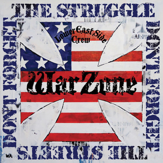 Warzone - dont forget the struggle, dont forget the streets translucent blue LP+DLC