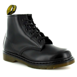 Dr. Martens - 101PW smooth black 6-eye police boot