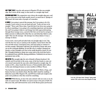Straight Edge - a clear-headed hardcore punk history by Tony Rettman