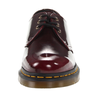 Dr. Martens - VEGAN 1461 cherry red cambridge brush 3-eye shoe