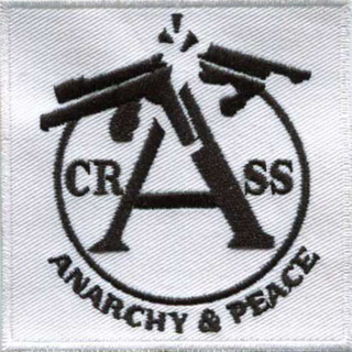 Crass - anarchy & peace white