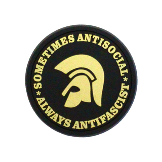 Sometimes Antisocial,Always Antifascist - black