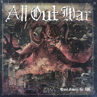 All Out War - crawl among the filth purple LP