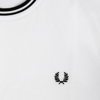Fred Perry - twin tipped T-Shirt M1588 white 100 XXL