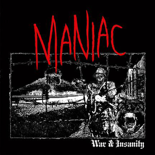 Maniac - war & insanity clear blue streaks LP