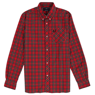 Fred Perry - L/S tartan Shirt M7307 red 943