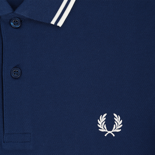 Fred Perry - twin tipped Polo Shirt M3600 medblue/snowwhite I71