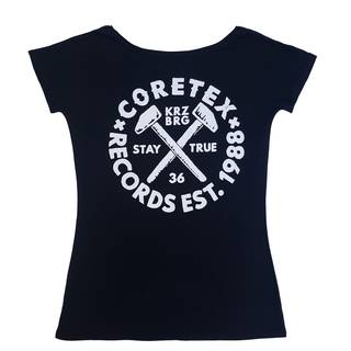 Coretex - stay true deep scoop girlie black
