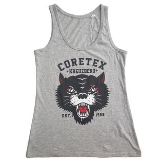 Coretex - panther sports grey/black girlie tanktop