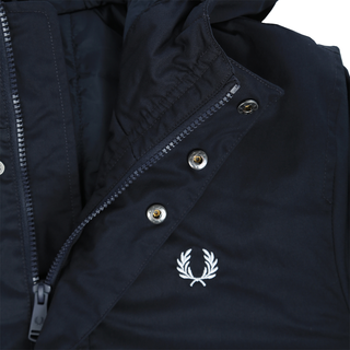 Fred Perry - padded hooded jacket J7513 navy 608
