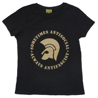 Sometimes Antisocial, Always Antifascist - logo black