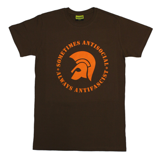 Sometimes Antisocial, Always Antifascist - logo brown