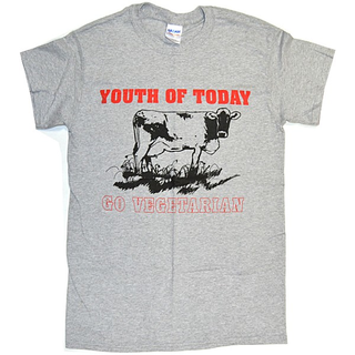 Youth Of Today - go vegetarian grey