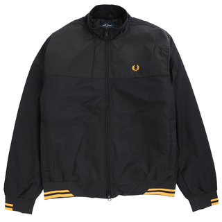 Fred Perry - pique print brentham jacket J7529 black 102
