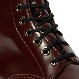 Dr. Martens - VEGAN 1460 cherry red oxford rub off 8-eye boot (gelbe Naht)