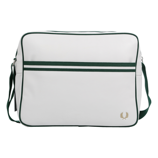 Fred Perry - classic shoulder bag L8311 snow white/ivy K56