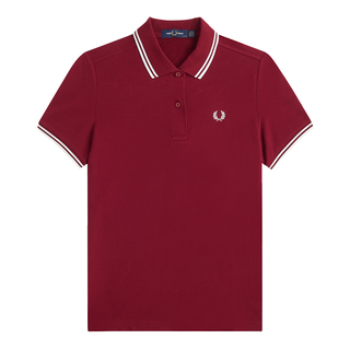 Fred Perry - Twin Tipped Girl Polo Shirt G3600 dark red D31