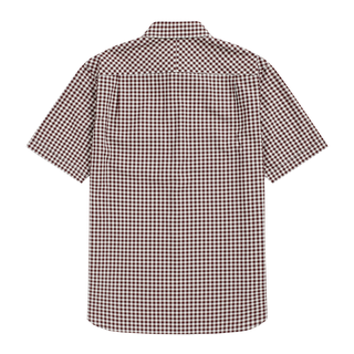 Fred Perry - Gingham Short Sleeve Shirt M9604 mahogany 799